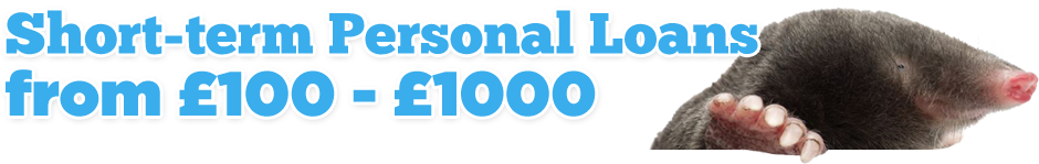 Short-term Personal Loans from £100 - £1000